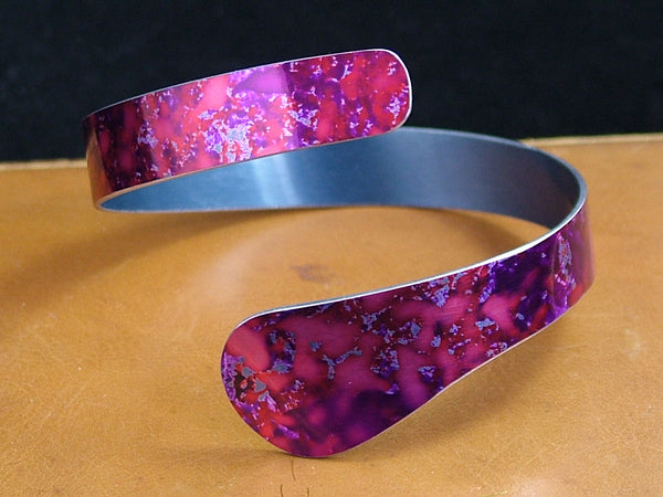 Purple Anodised Aluminium Trajectory Bangle