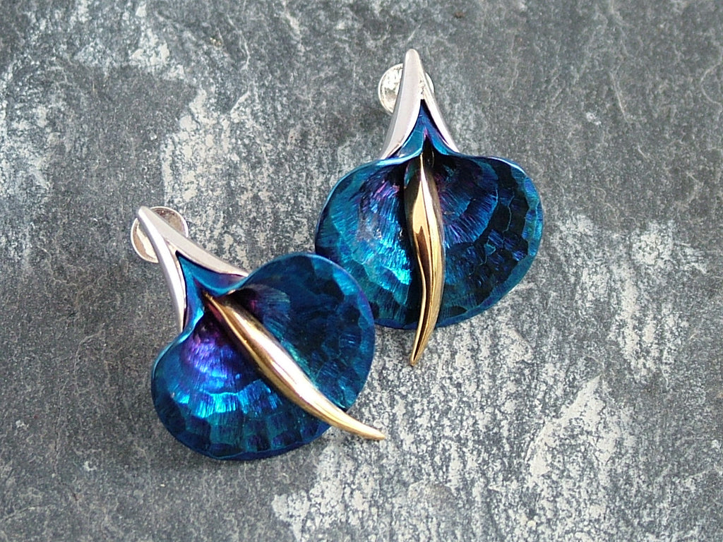 Titanium Orchid Earrings