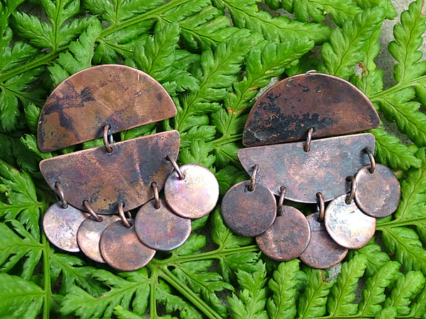 Copper Nomad Jangly Earrings