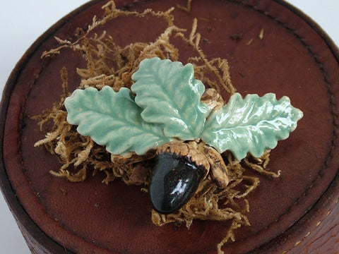 Acorn and Oak Leaf Brooch
