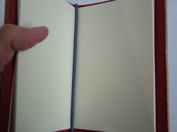 Red Leather Refillable Notebook