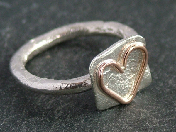 Heart on Square Ring