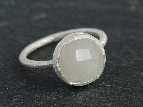 Round Cupcake Ring with Moonstone