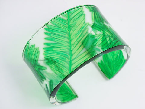 Broad Conifer Bangle
