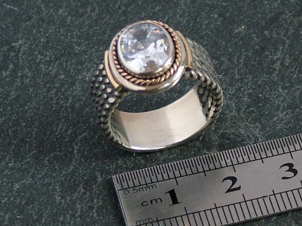 Oval Cubic Zircona Ring