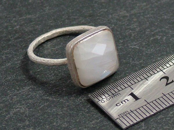 Square Cupcake Ring with Moonstone