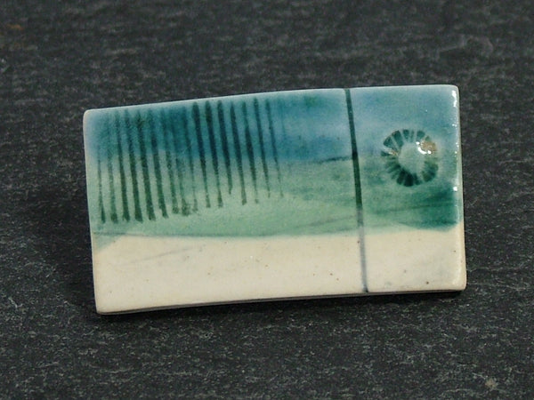 Landscape Brooch Blue