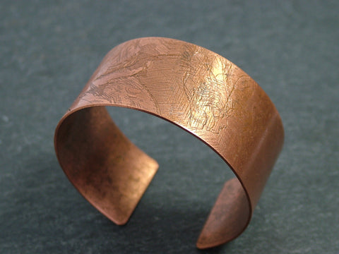 Oxidised Copper Bangle