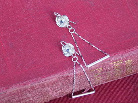 Silver Equilibrium Earrings