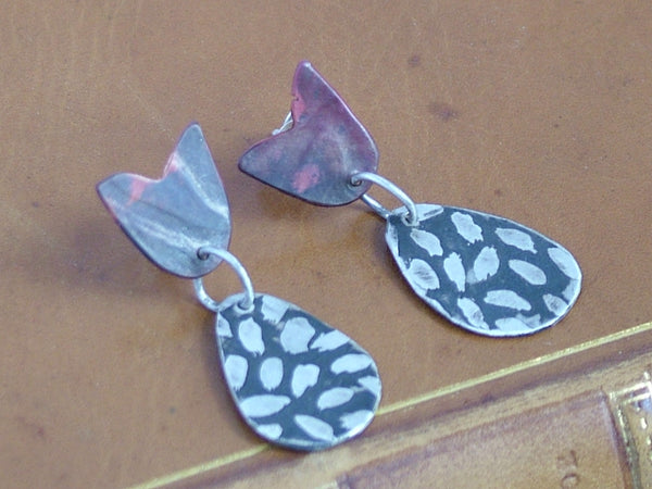 Double Tulip Drop Earrings