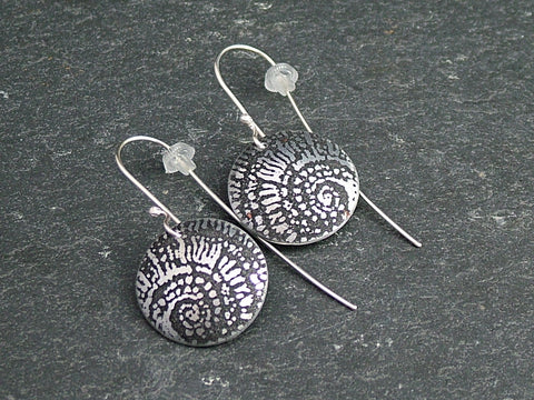 Ammonite Dome Earrings