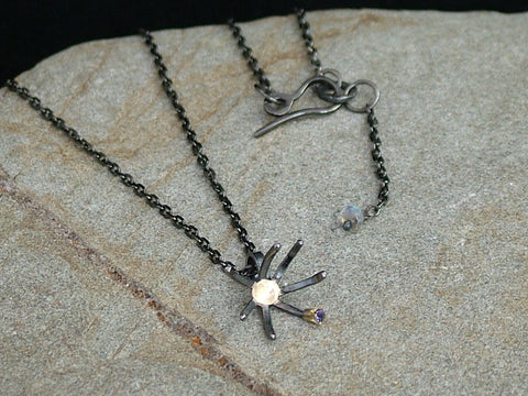 Dandelion Necklace with Iolite