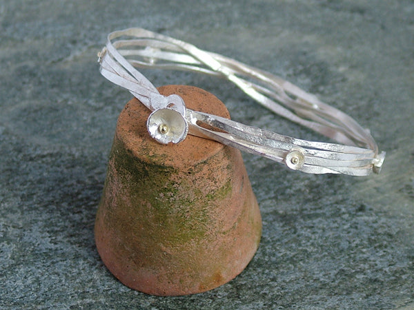 Small Acorn Cup Wrap Bangle