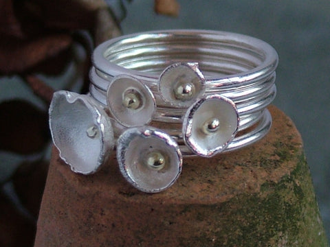 Five Acorn Cup Ring