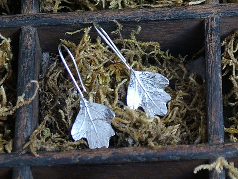 Hawthorn Leaf Drop Earrings