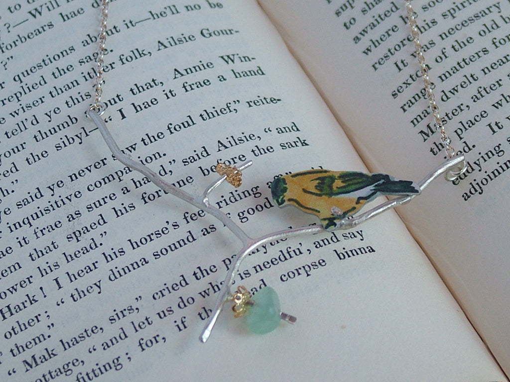 Goldfinch in the Apple Tree Necklace