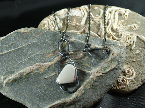 Double Loop Sea Glass Necklace