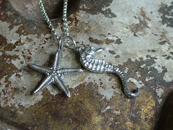 Seahorse and Starfish Necklace