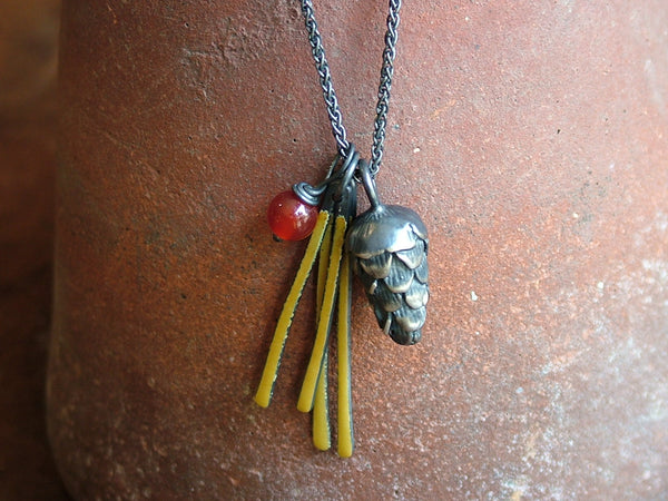 Large Pine Cone Cluster Necklace