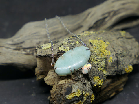Amazonite and Opal Necklace