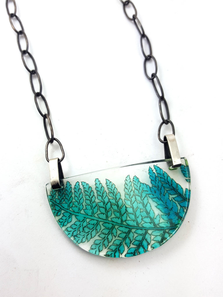 Fern Semi-Circle Necklace