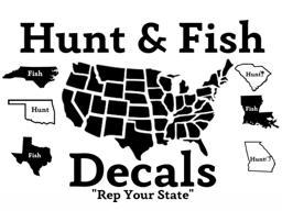 Hunt and Fish Decals