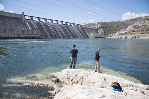 Fishing The Bottom Side Of The Dam