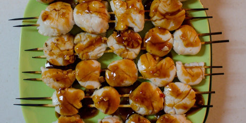 Sweet and Sour Scallop Skewers