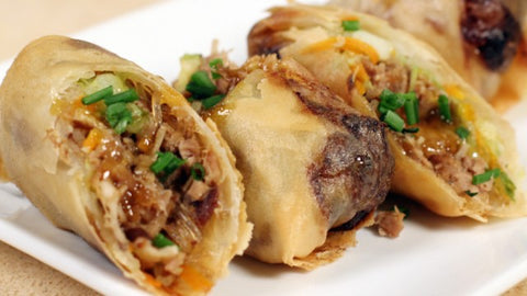 Roasted Duck Spring Rolls