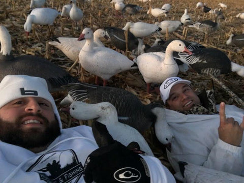 Blending In With The Snow Goose Decoys