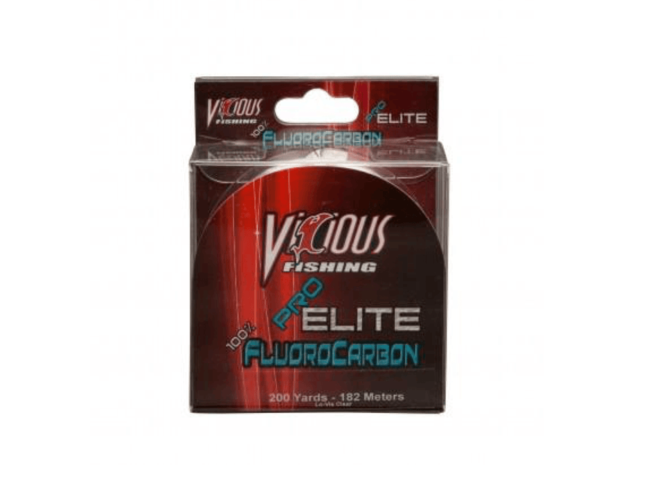 10 lb pro elite flurocarbon fishing line vicious