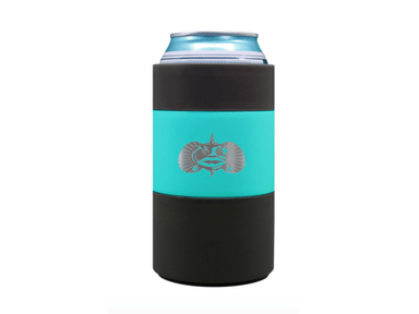 12oz Teal Toadfish Non Tipping Can Cooler