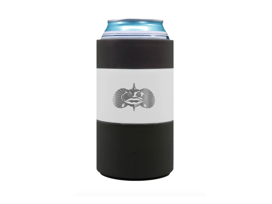 12oz White Toadfish Non Tipping Can Cooler