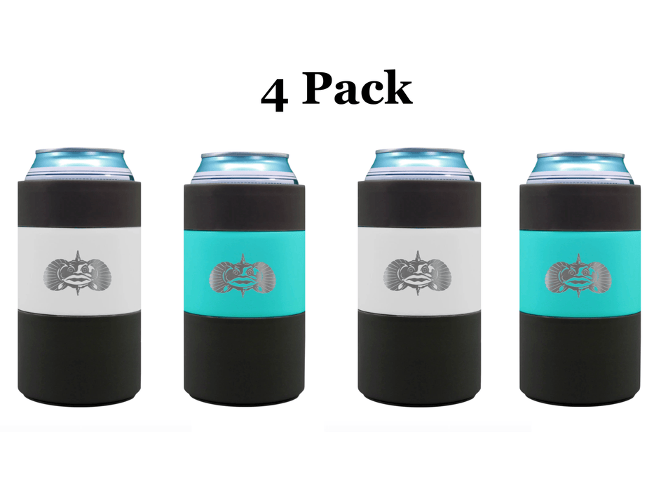 4-Pack toadfish non-tipping can cooler