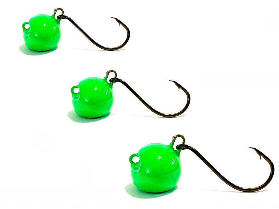 Bright Green Sheepshead Jigs - Hunting and Fishing Depot