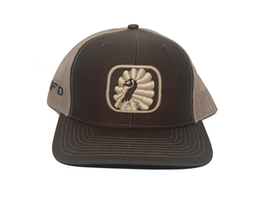 Brown / Khaki embroirdery turkey hat