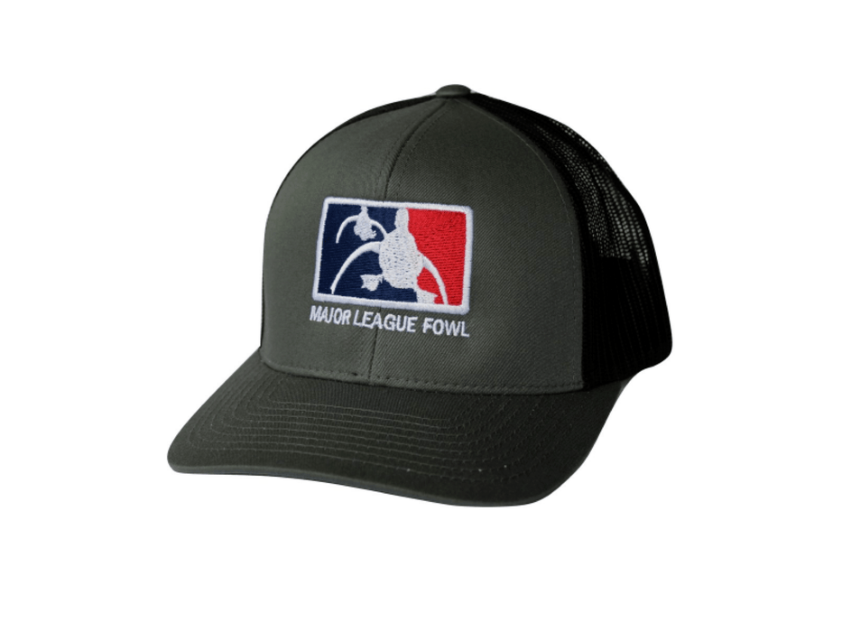 Charcoal/black ultimate logo trucker hat | Major league fowl