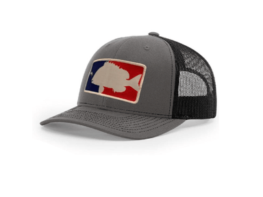 Charcoal / Black Major League Sheepshead Trucker Hat | Sheepshead Nation - Hunting and Fishing Depot