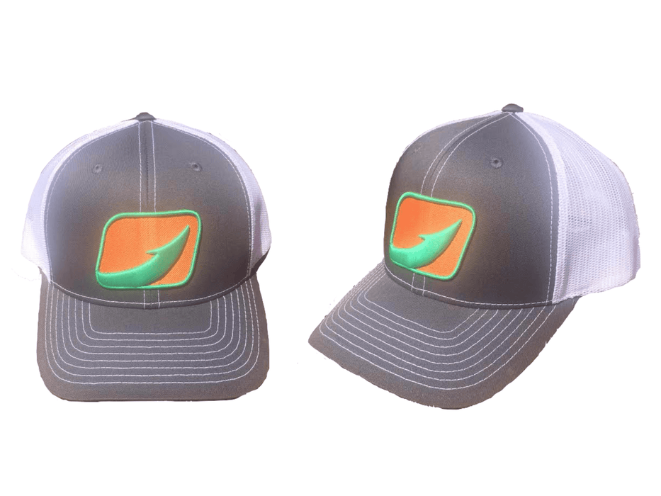 Hook Fishing Trucker Hats From Halocline Fishing Grey/White