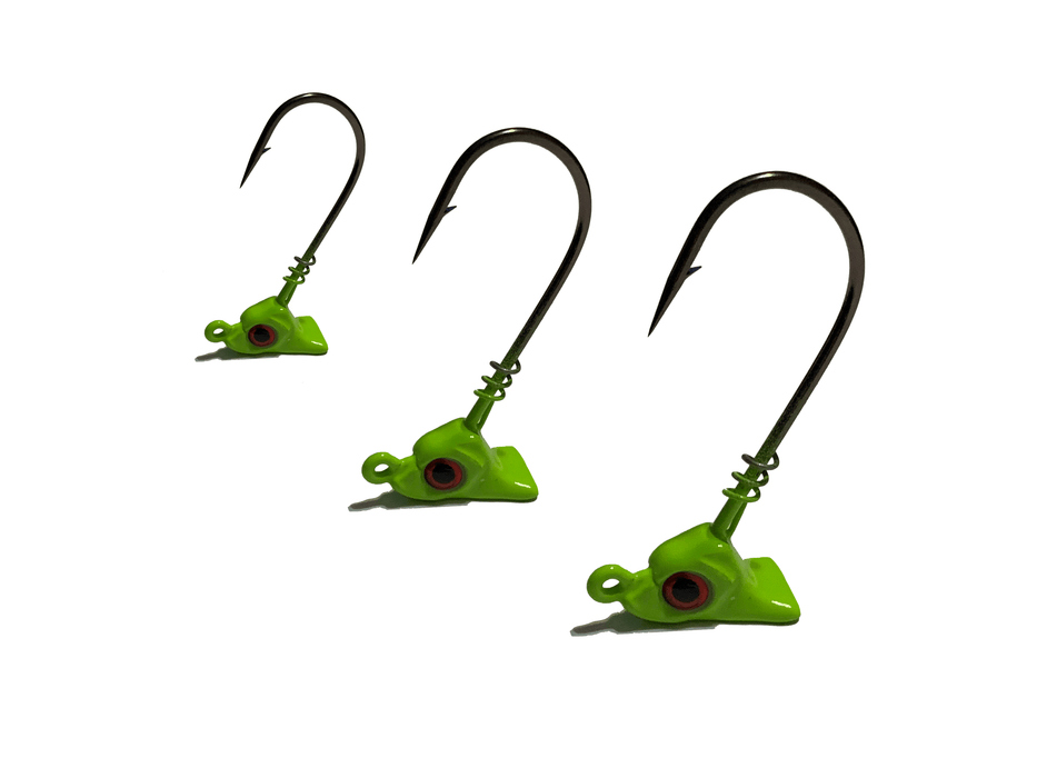 Chartreuse Standup Flounder Jigs - Hunting and Fishing Depot