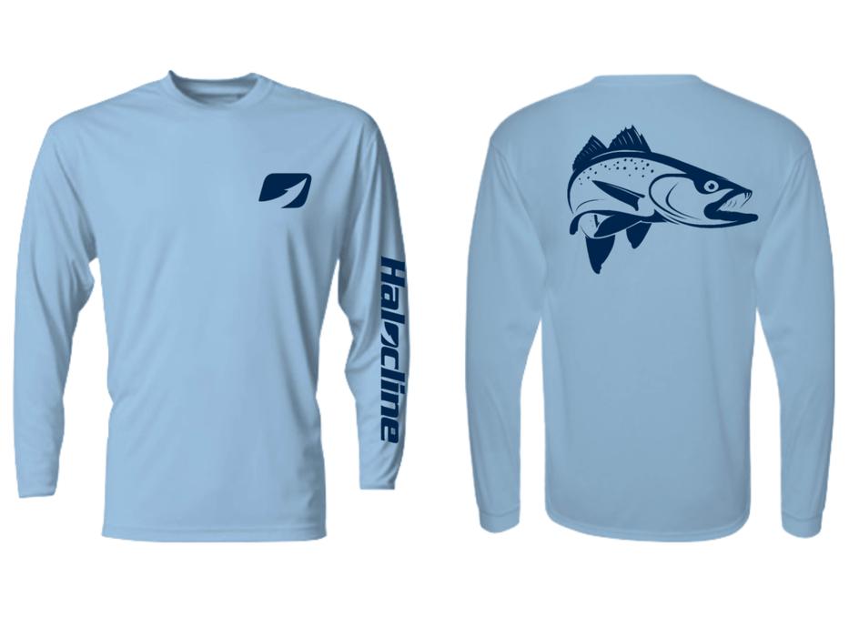 Speckled Sea Trout Fishing Performance Shirt From Halocline