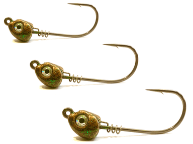 Copper Inshore Slammer Jig Heads 3pk