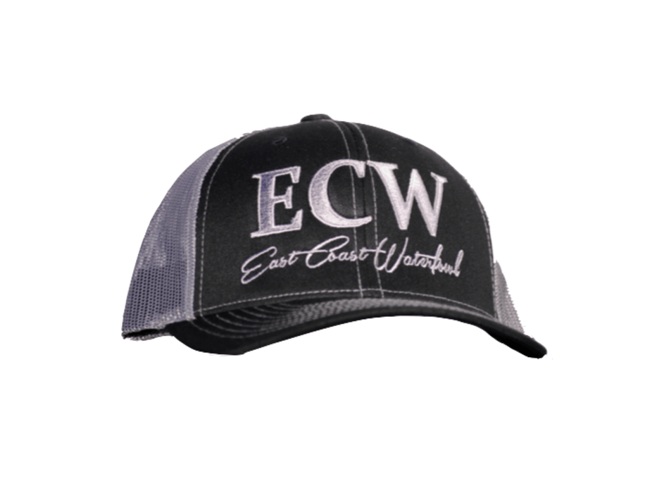 Black/Charcoal ECW Trucker Hat