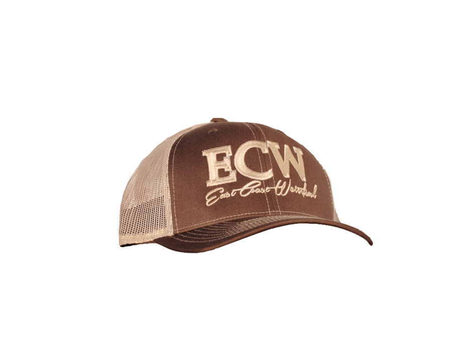 Brown/Khaki ECW Trucker Hat