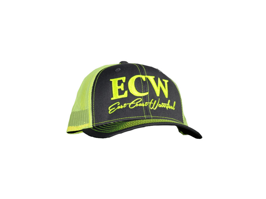 East Coast Waterfowl Charcoal/Neon Green Snap Back Trucker Hat