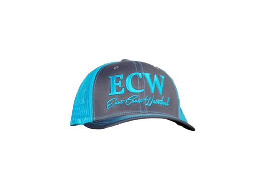 East Coast Waterfowl Charcoal/Neon Blue Snap Back Trucker Hat