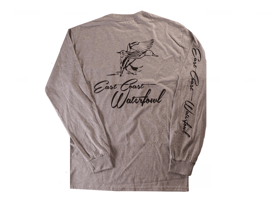 Long Sleeve East Coast Waterfowl Pocket T-shirt - Hunting and Fishing Depot