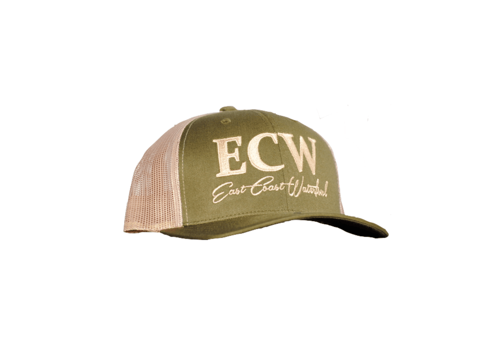 East Coast Waterfowl Flexfit Snap Back Moss/Khaki
