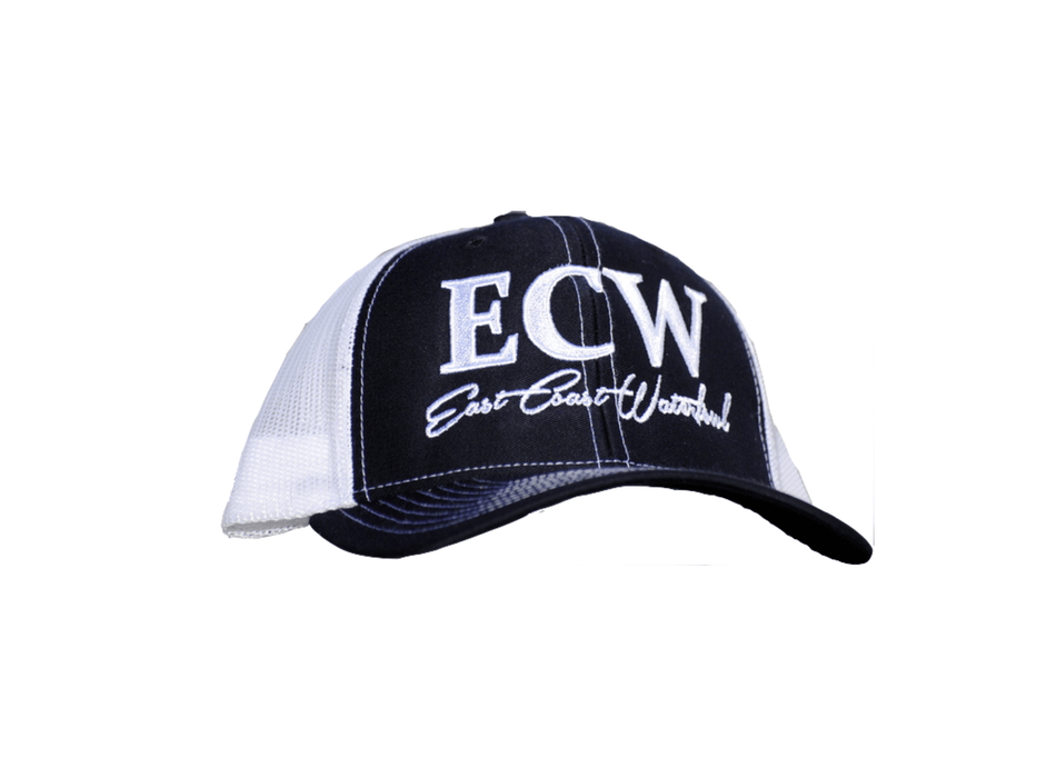 East Coast Waterfowl Mesh Snap Back Navy/White