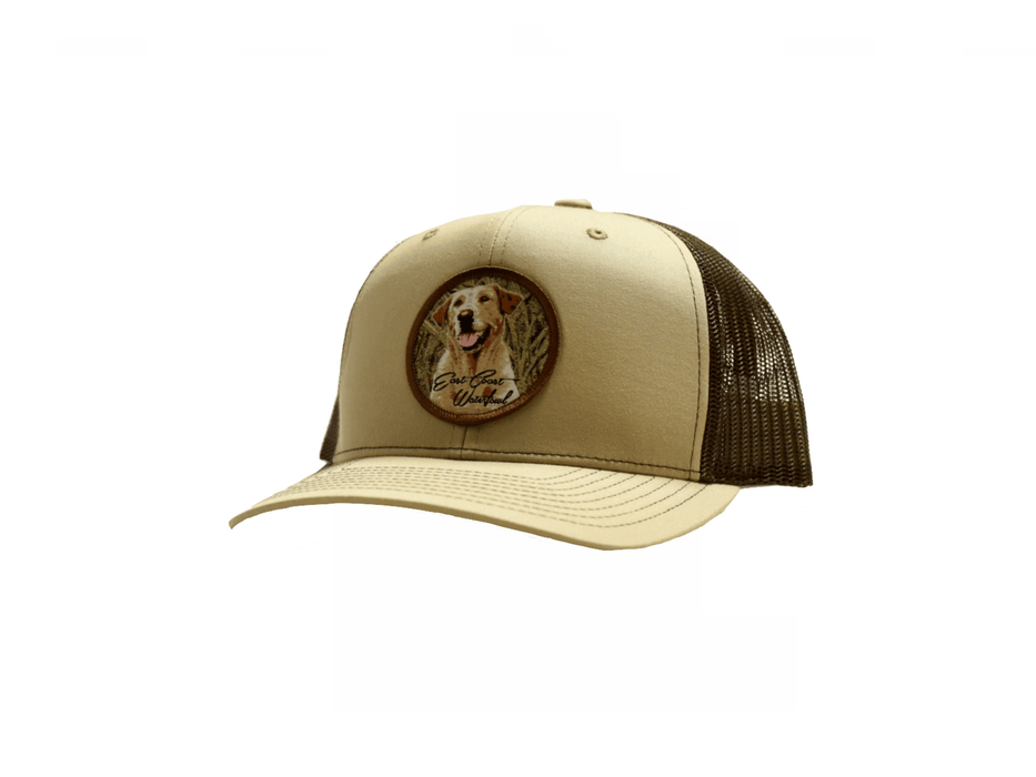 Yellow Lab Hunting Dog Patch Trucker Hat  11840dd84c7